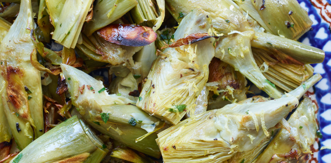 Golden Baby Artichokes with Lemon Zest