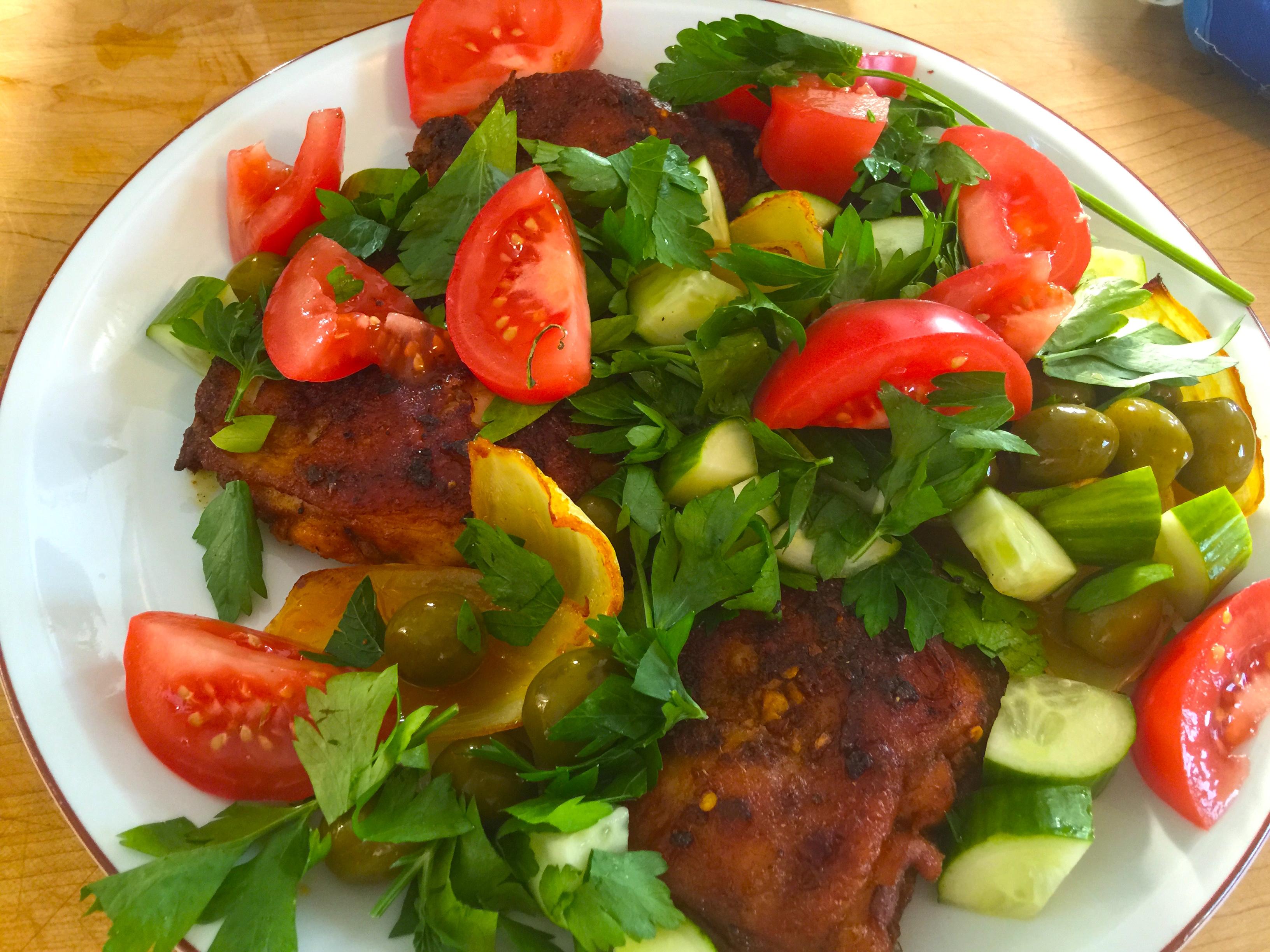 1 Chick dish finished