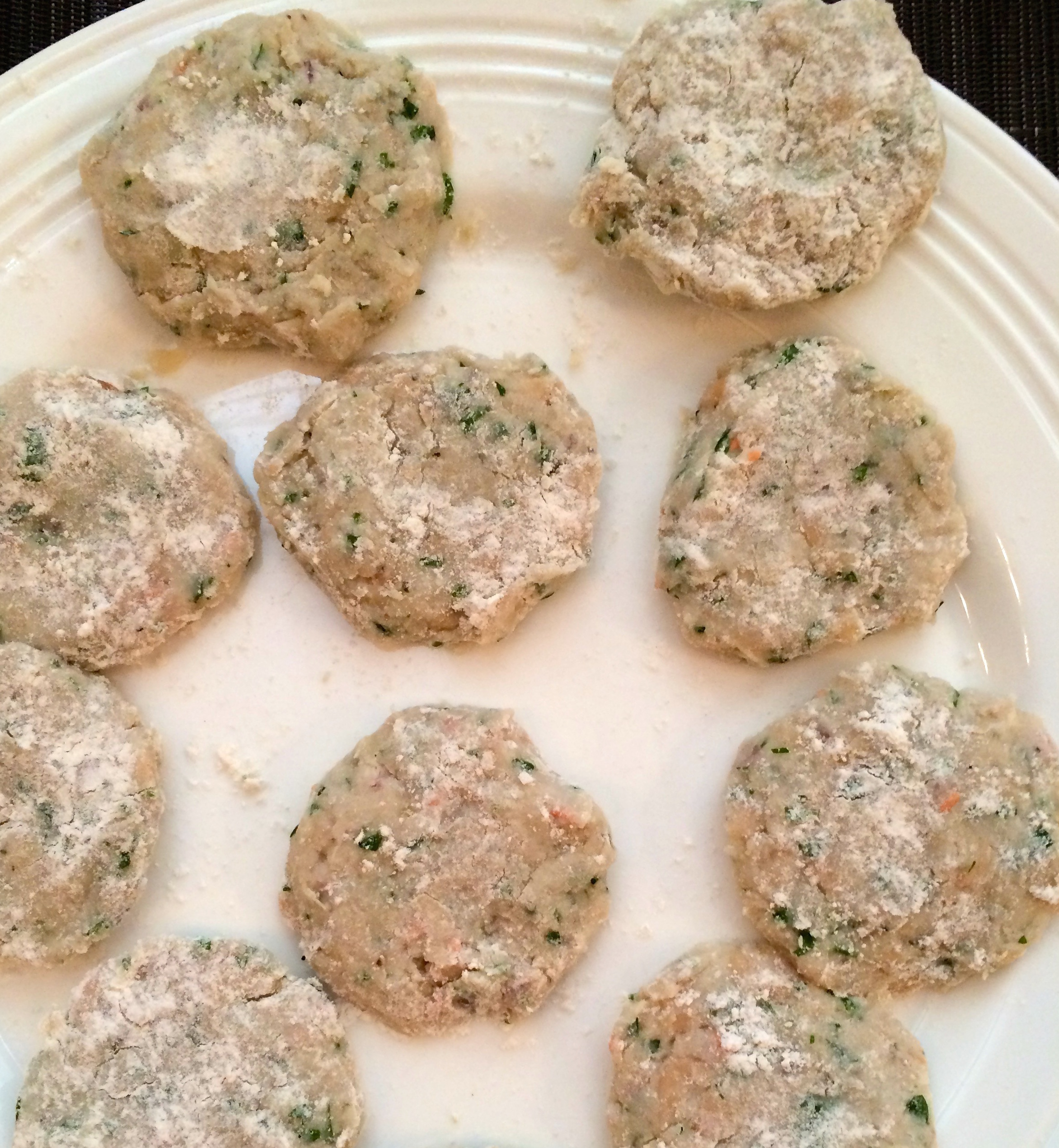 Uncooked fritters