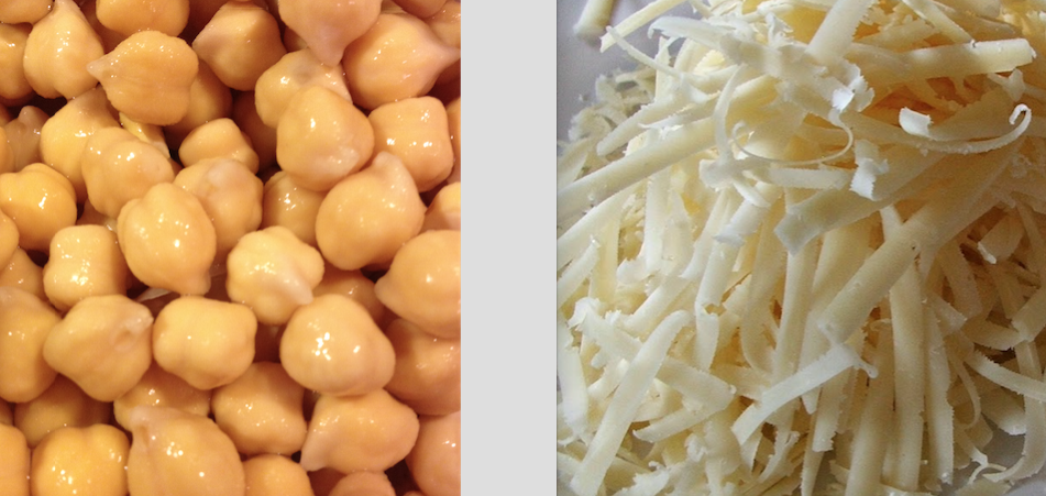 chickpeas and parm