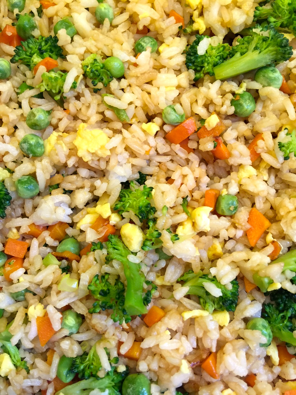 fried rice. all ingredients in skillit