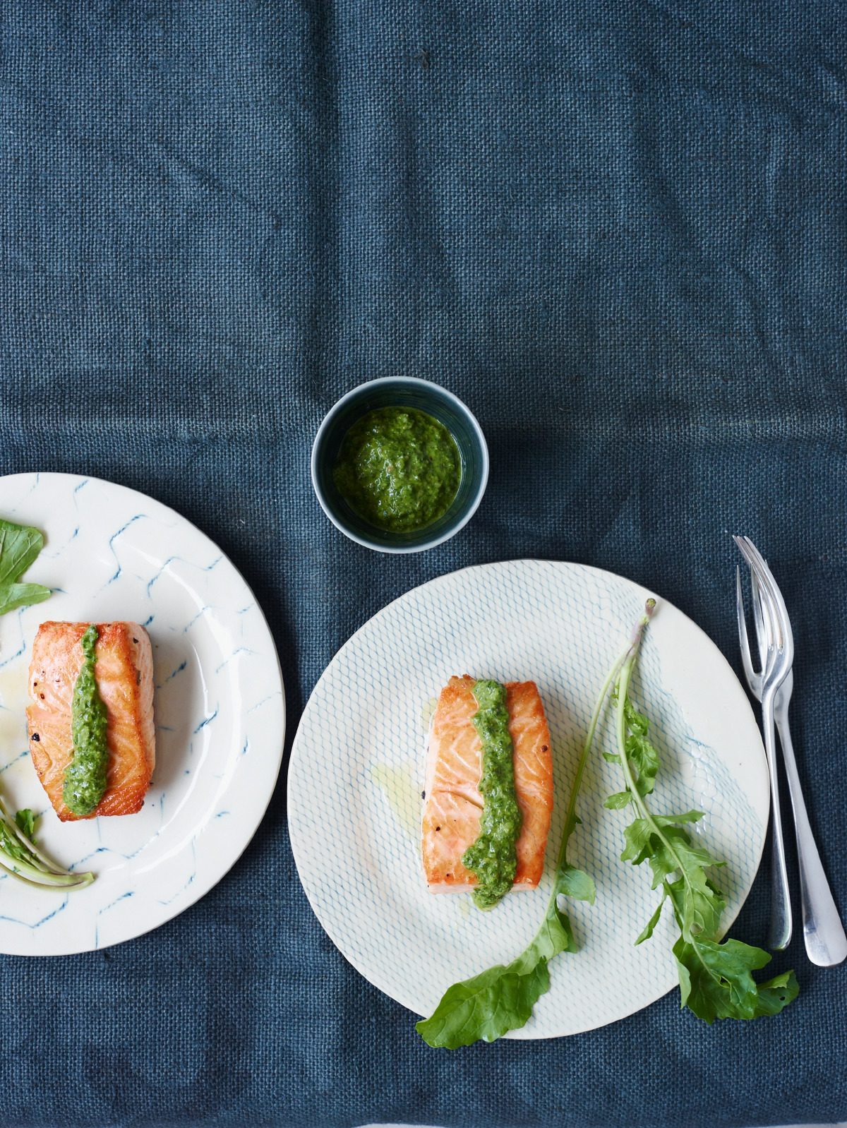 Pan-Seared Salmon With Salsa Verde